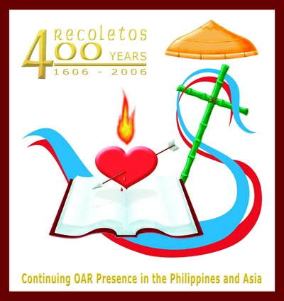 Logo for the celebration of four hundred years of the presence of the Augustinian Recollects in the Philippines, in 2006.