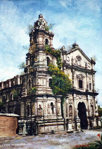 El antiguo convento intramuros de los Agustinos Recoletos en Manila, destruido durante la II Guerra Mundial.